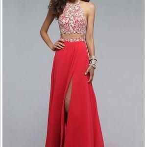two piece prom dress !